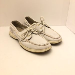 Sperry Top Sider Women Boat Shoes White Size 7.5